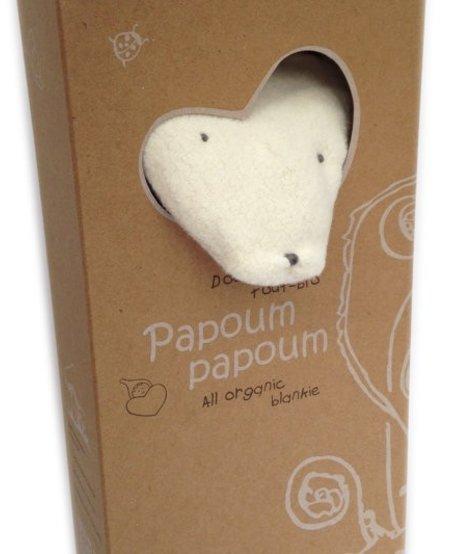 Renardoux Doudou Tout Bio de Papoum Papoum/ Fox Bio Blanket