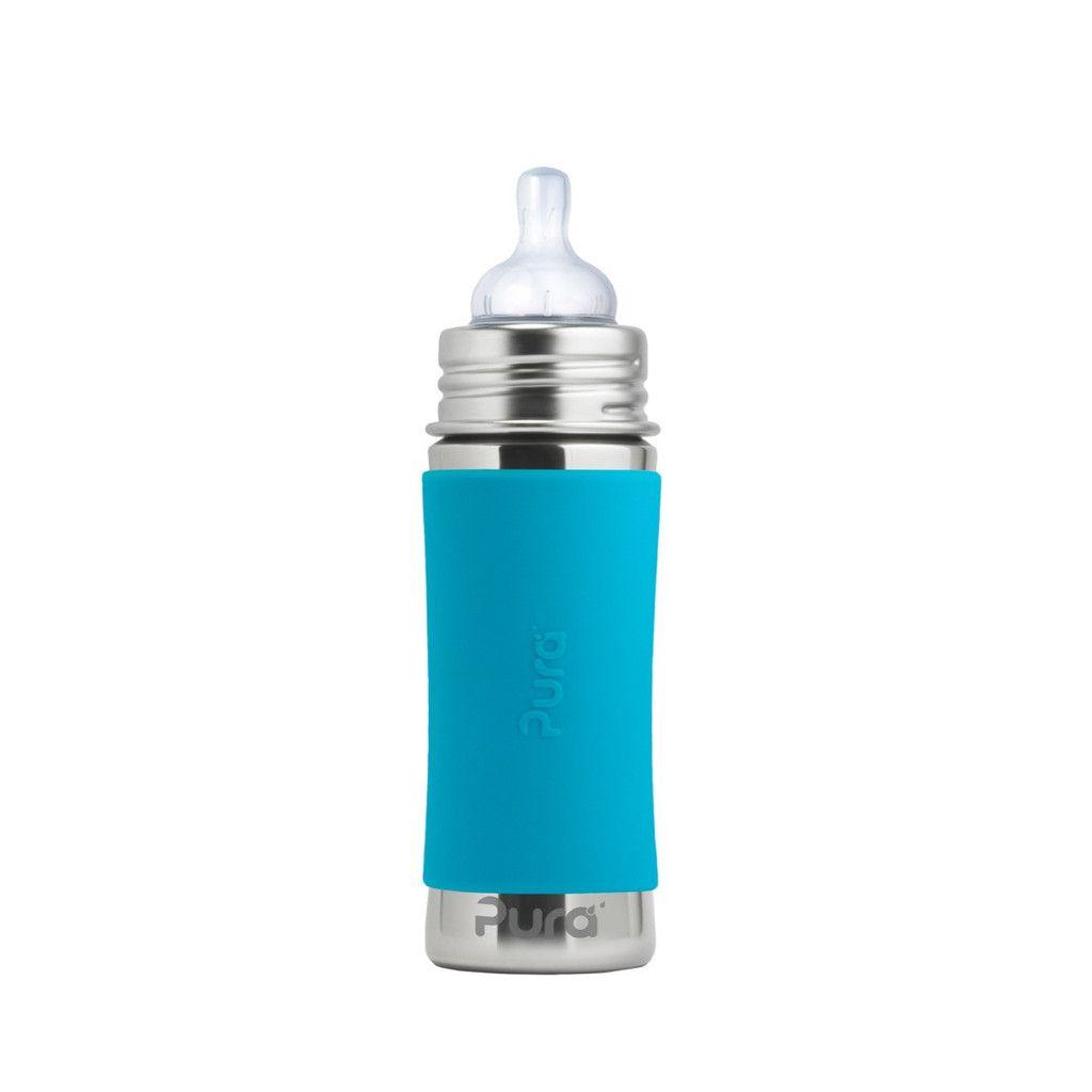 Pura kiki Biberon en acier inoxydable Pura Kiki - Aqua - Infant Bottle 11 oz