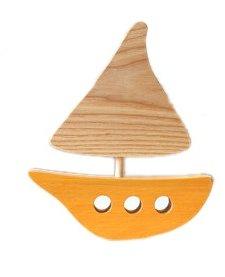 Bateau en Bois Recyclé d'Atelier Saint-Cerf/ Wooden Boat-Orange