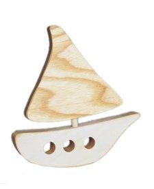 Bateau en Bois Recyclé d'Atelier Saint-Cerf/ Wooden Boat-Blanc