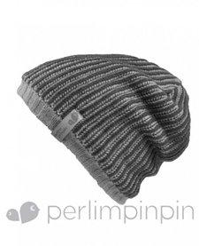 FW16 Tuque Acrylique Garçon de Perlimpinpin/ Winter Hat, Gris, 6-10A
