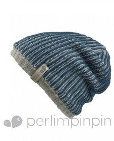 FW17 Tuque Acrylique Garçcon de Perlimpinpin/ Winter Hat, Marine, 6-10A