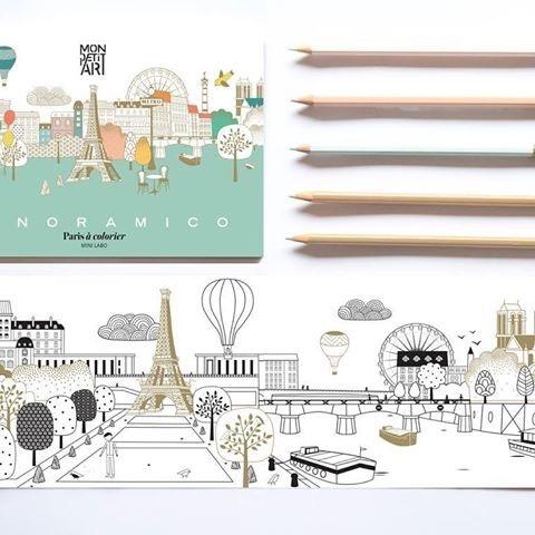 Mon Petit Art Panoramico Paris à Colorier de Mon Petit Art/ Colorong of Paris