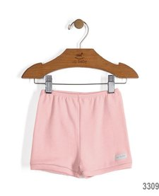 SS17 Culottes Courtes Up Baby/ Solid Jersey Cotton Shorts Pink