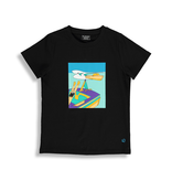 Birdz SS21 T SHIRT SKI NAUTIQUE NOIR/WATER SKI T SHIRT BLACK de BIRDZ