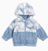 Miles Baby SS21 Veste Coupe Vent Bleu Tie-Dye de Miles