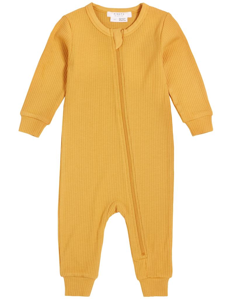 Petit Lem SS21 Ensemble de jour une piece moutarde / onepiece mustard day suit de Petit Lem