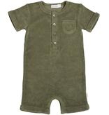 Miles Baby SS21 Une piece ratine vert olive / onepiece green playwear de Miles