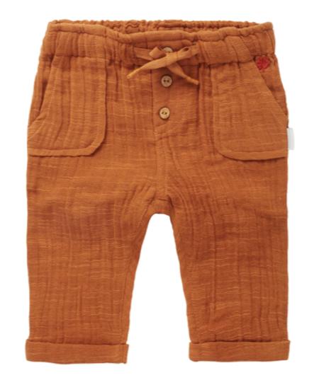 SS21 Pantalon en Toile avec Noeud et Boutons en Bois de Noppies Baby - Relax Fit Pants