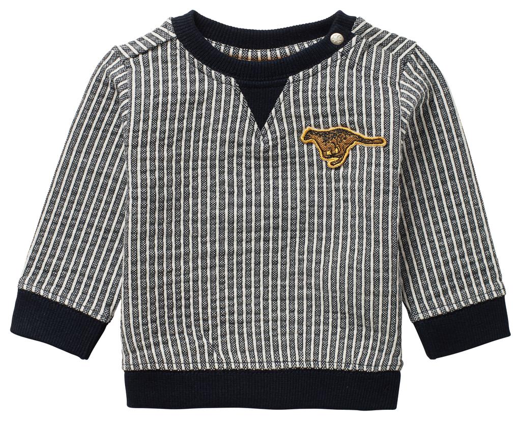 Noppies SS21 Pull Rayé avec Patch Guépard de Noppies - Strip Sweater