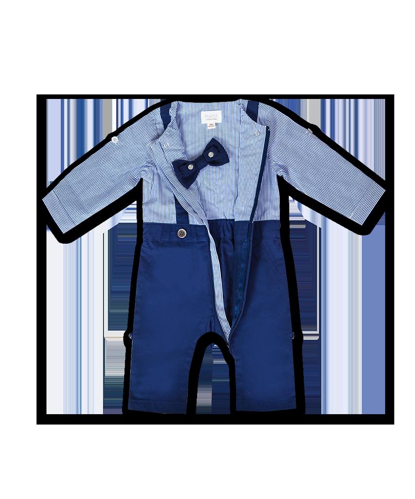 PiaPia SS21 Tout-En-Un Ensemble Chic Avec Chemise à Manches Longues, Pantalon à Bretelles et Noeuds Interchangeables - Piapia