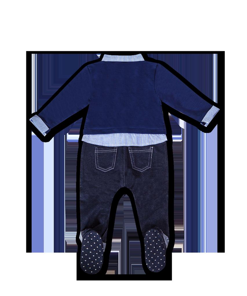 PiaPia SS21 Tout-En-Un Combinaison Chic à Manches Longues avec Noeuds Interchangeables et Chaussures Antidérapantes - Piapia