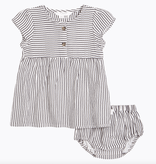 Petit Lem SS21 Robe à Rayures Avec Culotte - Stripes Dress With Bloomer - Firsts Petit Lem