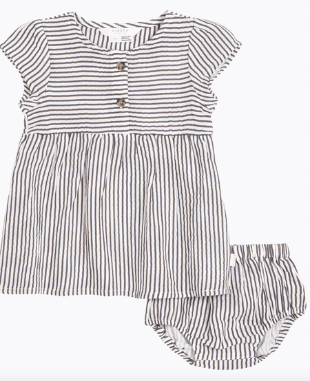 SS21 Robe à Rayures Avec Culotte - Stripes Dress With Bloomer - Firsts Petit Lem