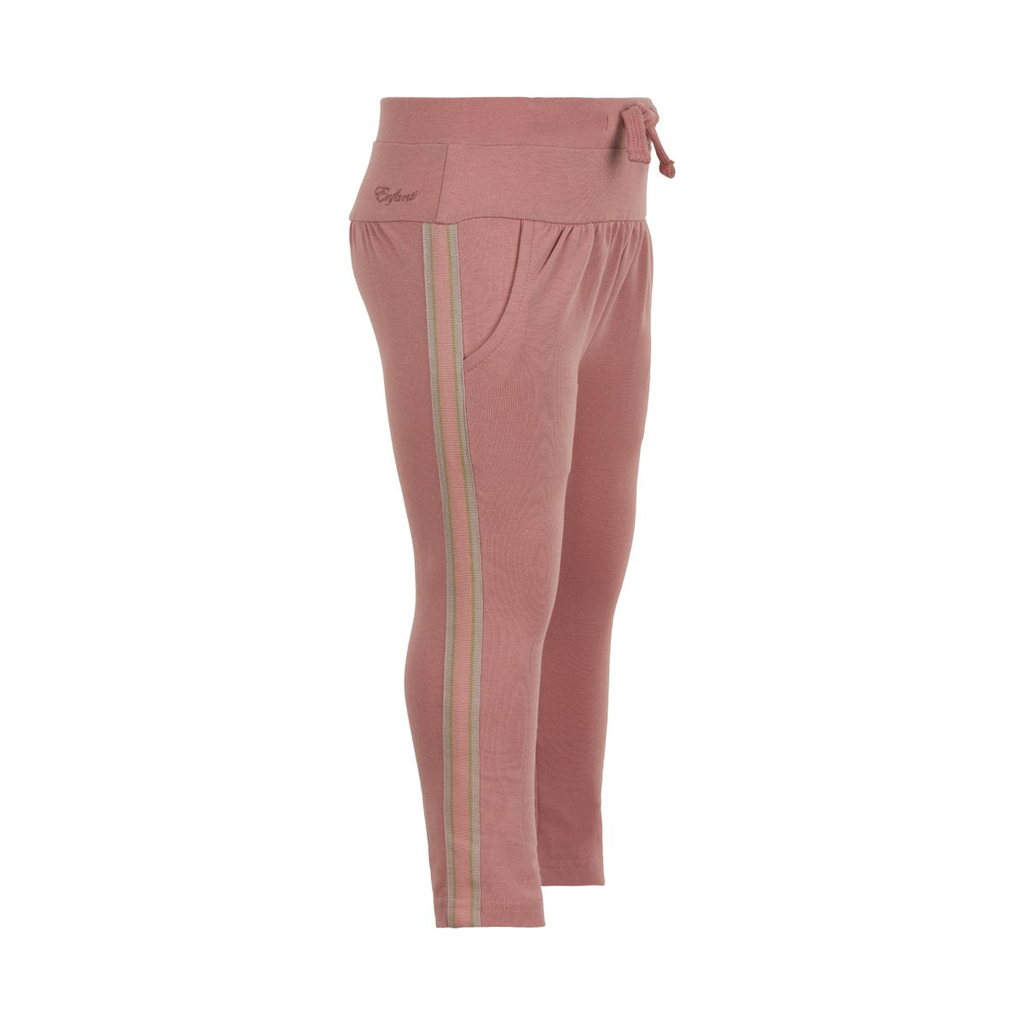 Enfant SS21 pantalon rose avec bordure/pants weat rose dawn