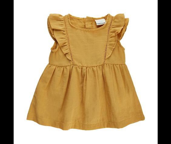 Enfant SS21 Robe jaune ocre/dress ochre