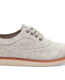 SS17 Chaussures Toms Shoes - Brogue Drizzle Grey Coated Linen