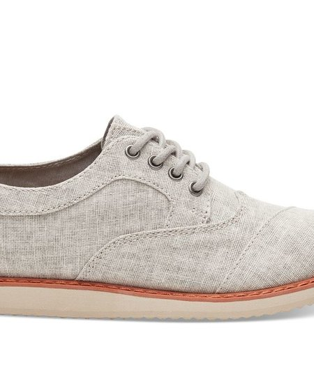 SS18 Chaussures Toms Shoes - Brogue Drizzle Grey Coated Linen