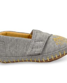 SS17 Chaussures Bébé Toms Baby Shoes - Crib Alpargata Grey Jersey Embroidery