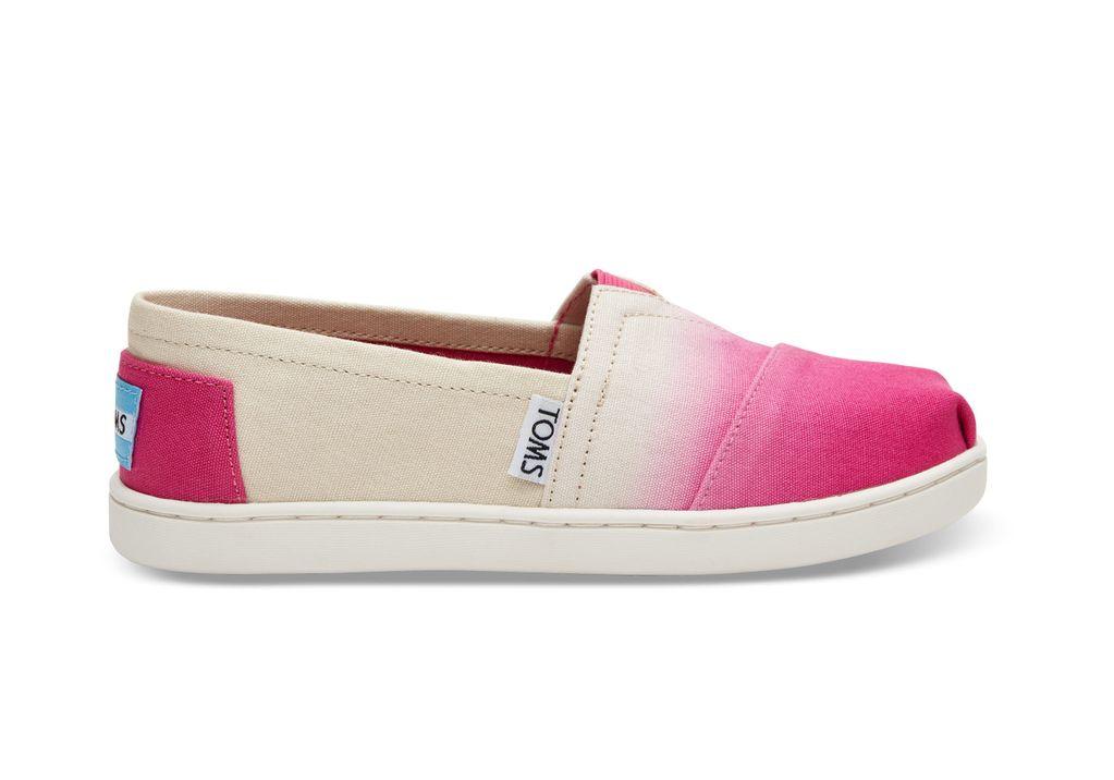 2a42ed707e SS17 Chaussures Toms Shoes - Fushia Dip Dye Montreal Plateau ...