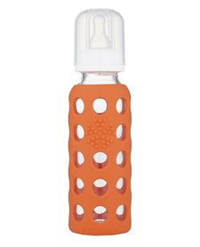 Biberon en Vitre Lifefactory Glass Baby Bottle 9oz -Orange Papaye/ Orange Papaya