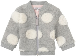 Noppies SS18 Cardigan Gris à Pois Noppies/Cardigan Sweat Ilion