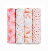 Aden & Anais Couvertures d'Emmaillotage Aden & Anais Petal Blooms Swaddles (4 Pack)