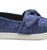 TOMS SS18 Chaussures Toms Shoes Blue Dot Chambray Bow Tiny