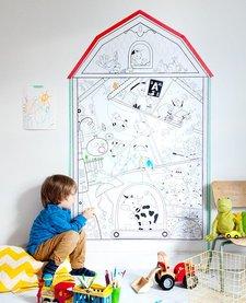 Coloriage Géant Ma Petite Ferme de Rue Tabaga (152cm/92cm)/ Giant Coloring Poster My Little House Farm