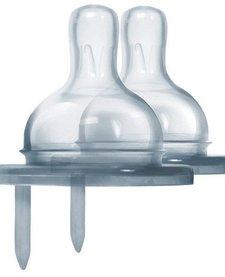 Tétine de silicone Pura Kiki modèle Y 100% silicone - Pack de 2