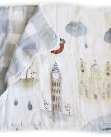 Courtepointe Bambou Londres de Loulou Lollipop/ Bamboo Quilt London