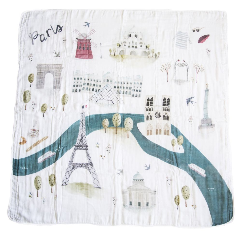 Loulou Lollipop Courtepointe Mousseline Paris de Loulou Lollipop/ Muslin Quilt Paris