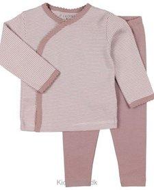 FW18 Pyjama Rayé 2 Pièces Rose Fixoni / Grow Nightset
