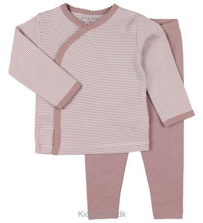 Fixoni FW18 Pyjama Rayé 2 Pièces Rose Fixoni / Grow Nightset