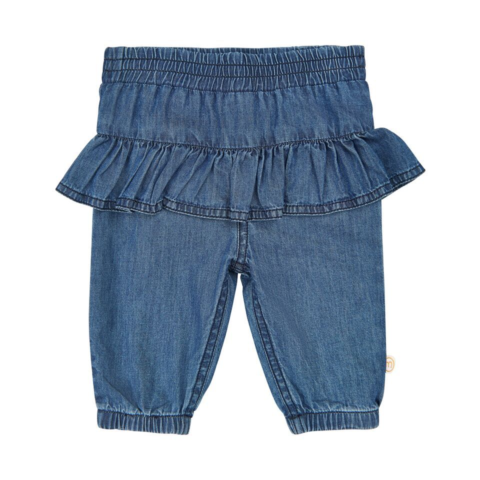 Minymo FW18 Pantalons en Jean à Volant Minymo / Pant