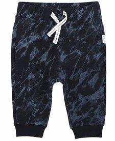 FW18 Pantalon Tricot Bleu Cordon Blanc - Miles Baby
