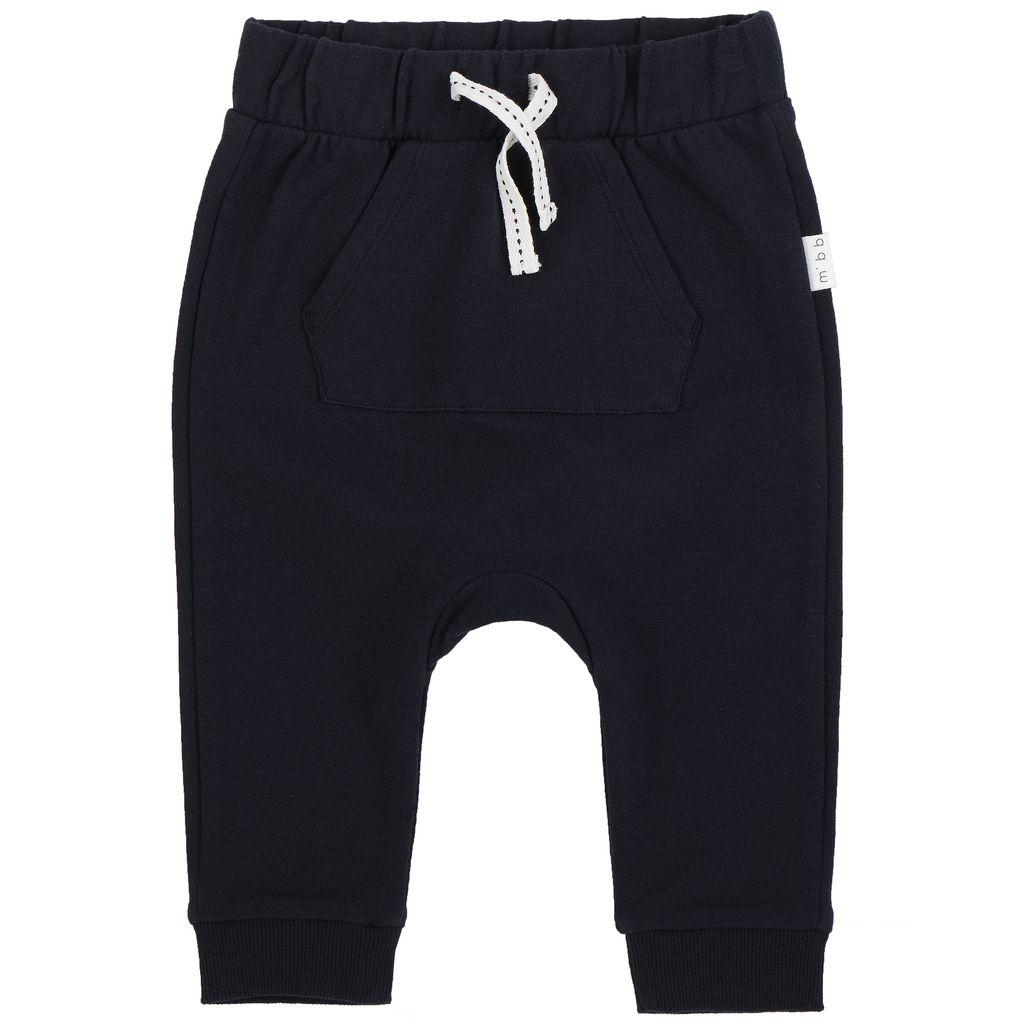 Miles Baby FW18 Pantalon Tricot Bleu Marin - Miles Baby