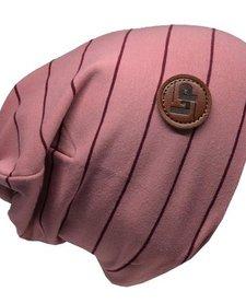 Tuque Coton Ultra Stylée Rose à Rayures - L&P