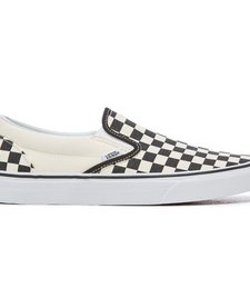 Souliers Checkerboard Vans B&W Slip-On