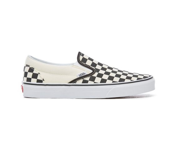 Vans Souliers Checkerboard Vans B&W Slip-On