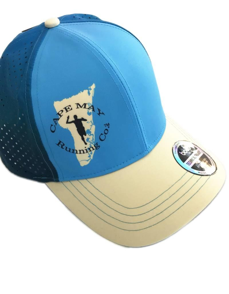 Boco Gear Running Trucker - Blue/Blue w/We Run the Beaches visor