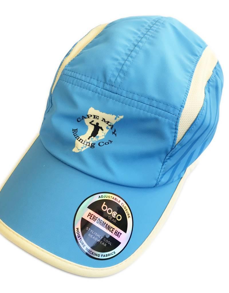 Boco Gear Tri Hat - Blue/Tan w/Stripped side panels