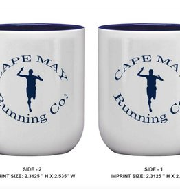 Jacobson Hat Co., Inc. White/Blue Coffee Mug (2 sides)