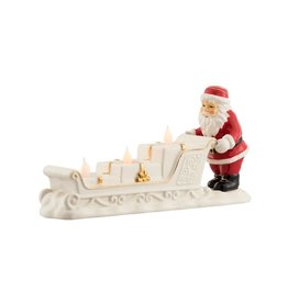 SANTAS BELLEEK LIVING SANTA SLEIGH VOTIVE