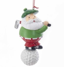 ORNAMENTS GOLFING SANTA ORNAMENT