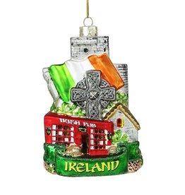 ORNAMENTS IRELAND CITYSCAPE GLASS ORNAMENT