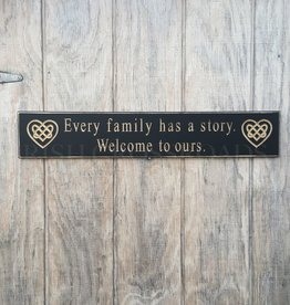 "PLAQUES, SIGNS & POSTERS ""EVERY FAMILY HAS A STORY"" CARVED WOOD SIGN"