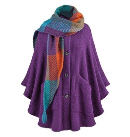 CAPES & RUANAS BRANIGAN WEAVERS TINA CAPE - Mulberry Purple