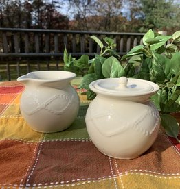 KITCHEN & ACCESSORIES KARA IRISH POTTERY CREAM & SUGAR
