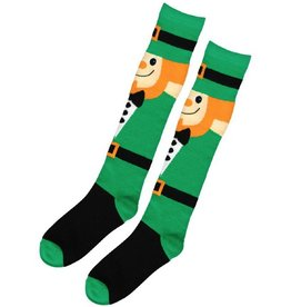 ST PATRICK'S DAY NOVELTY LEPRECHAUN KNEE SOCKS